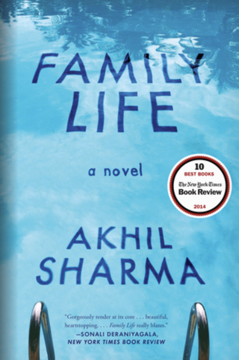 The cover features the book's title reflected in a pool