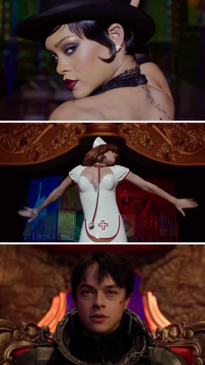 Rihanna as a sci-fi exotic dancer