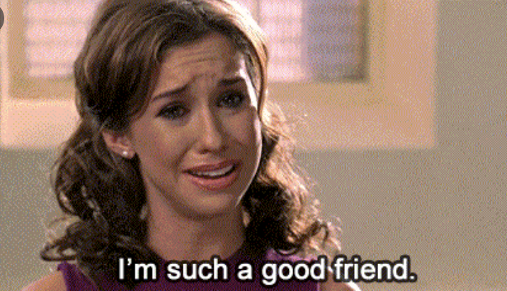 """Gretchen Weiners crying and saying, """"i'm such a good friend"""""""
