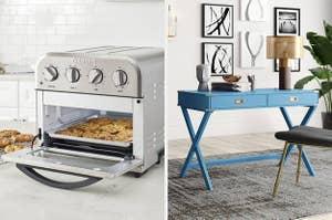 烤箱、桌子