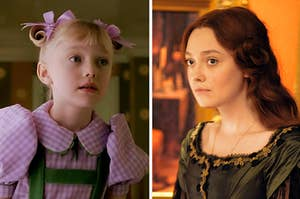 Dakota Fanning in two different movies