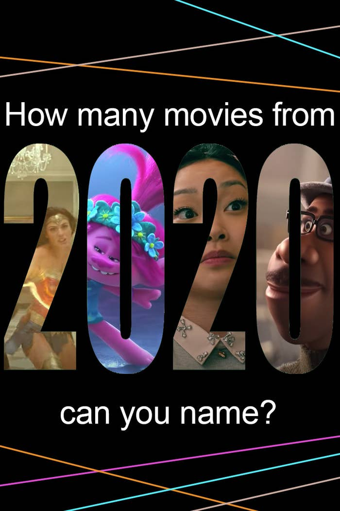 How many movies from 2020 can you name?
