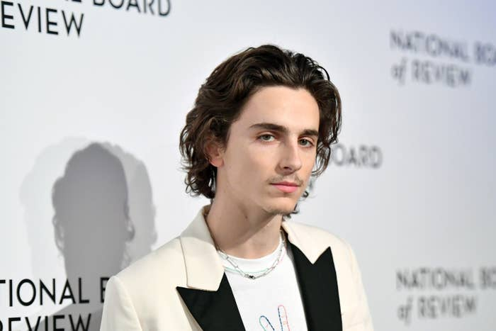 Timothee Chalamet at the National Board of Review Gala in January 2020
