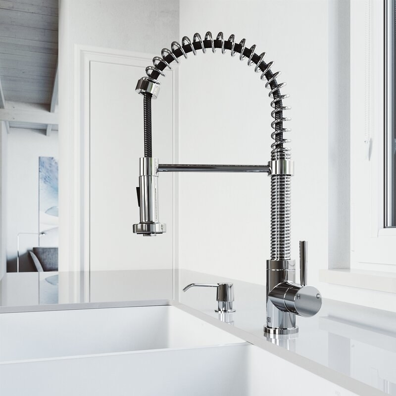 The faucet in chrome