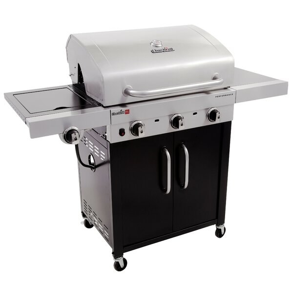 The silver and black grill