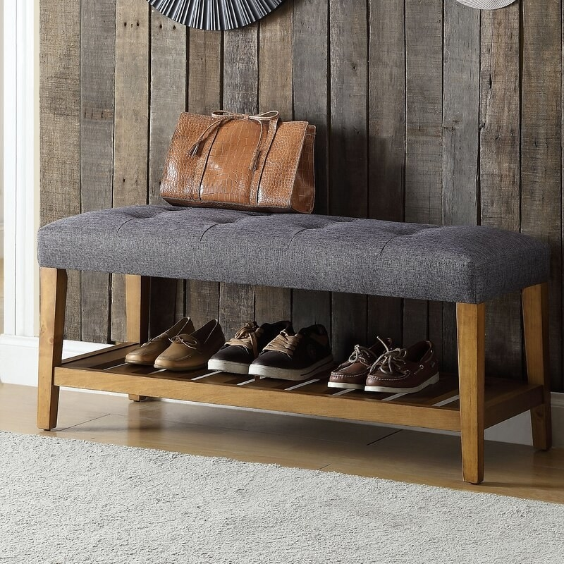 The bench in gray