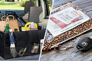 trunk organizer and document holder