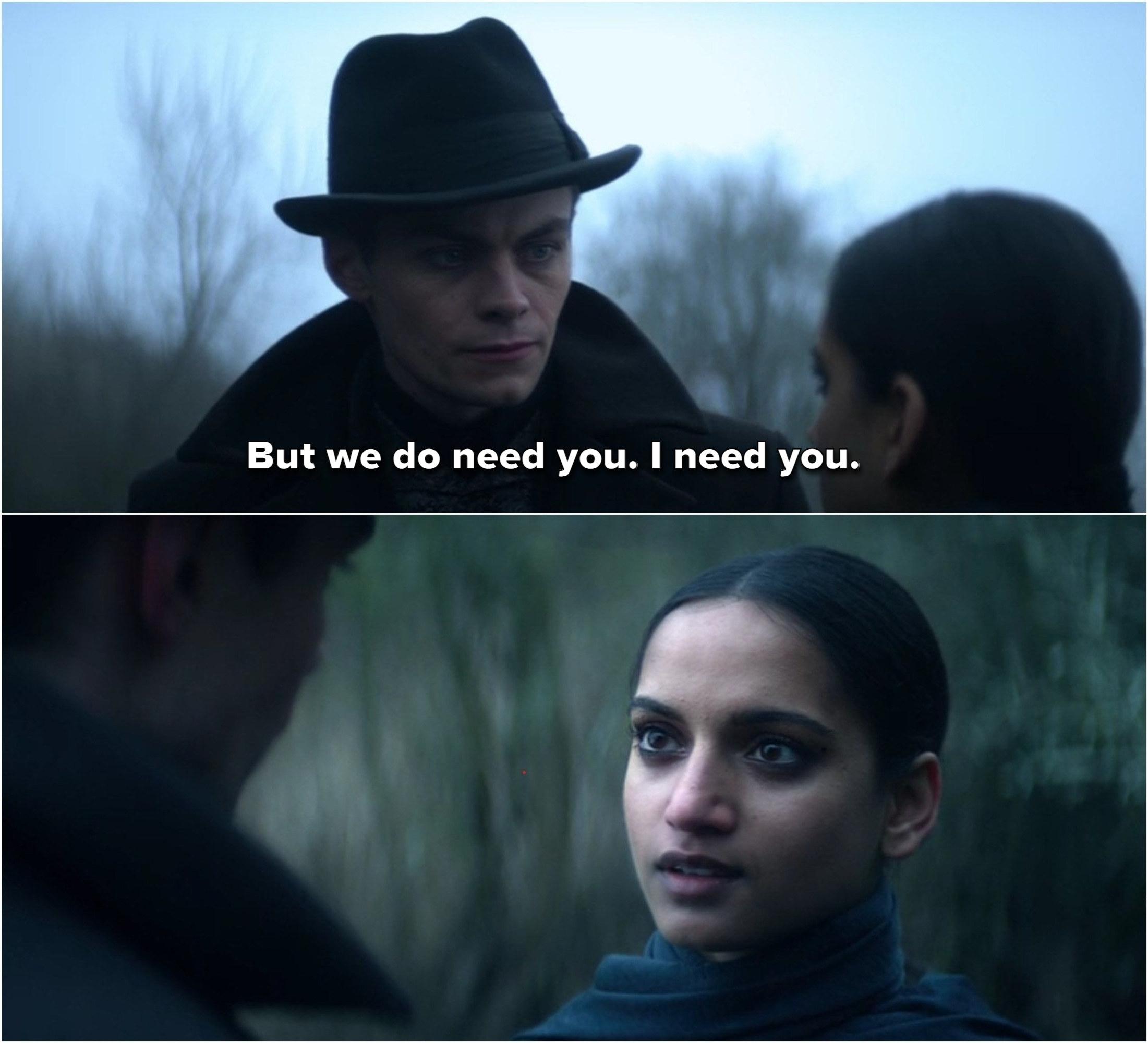 Kaz tells Inej he needs her.
