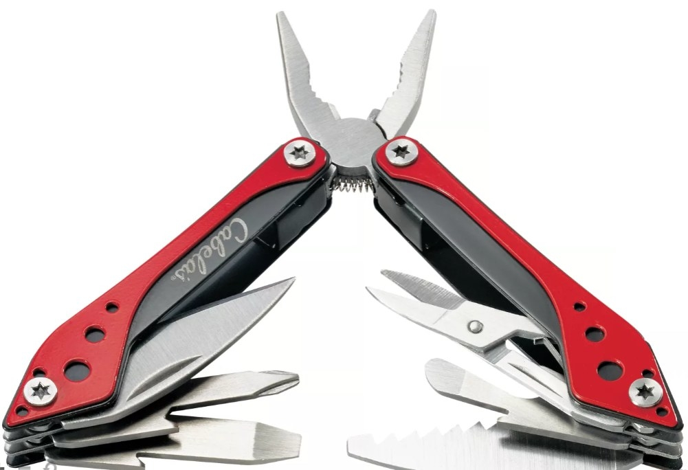 A red multi-tool