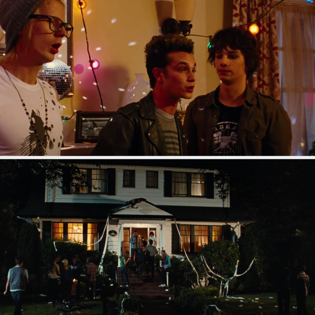Rodrick throwing a party at his house