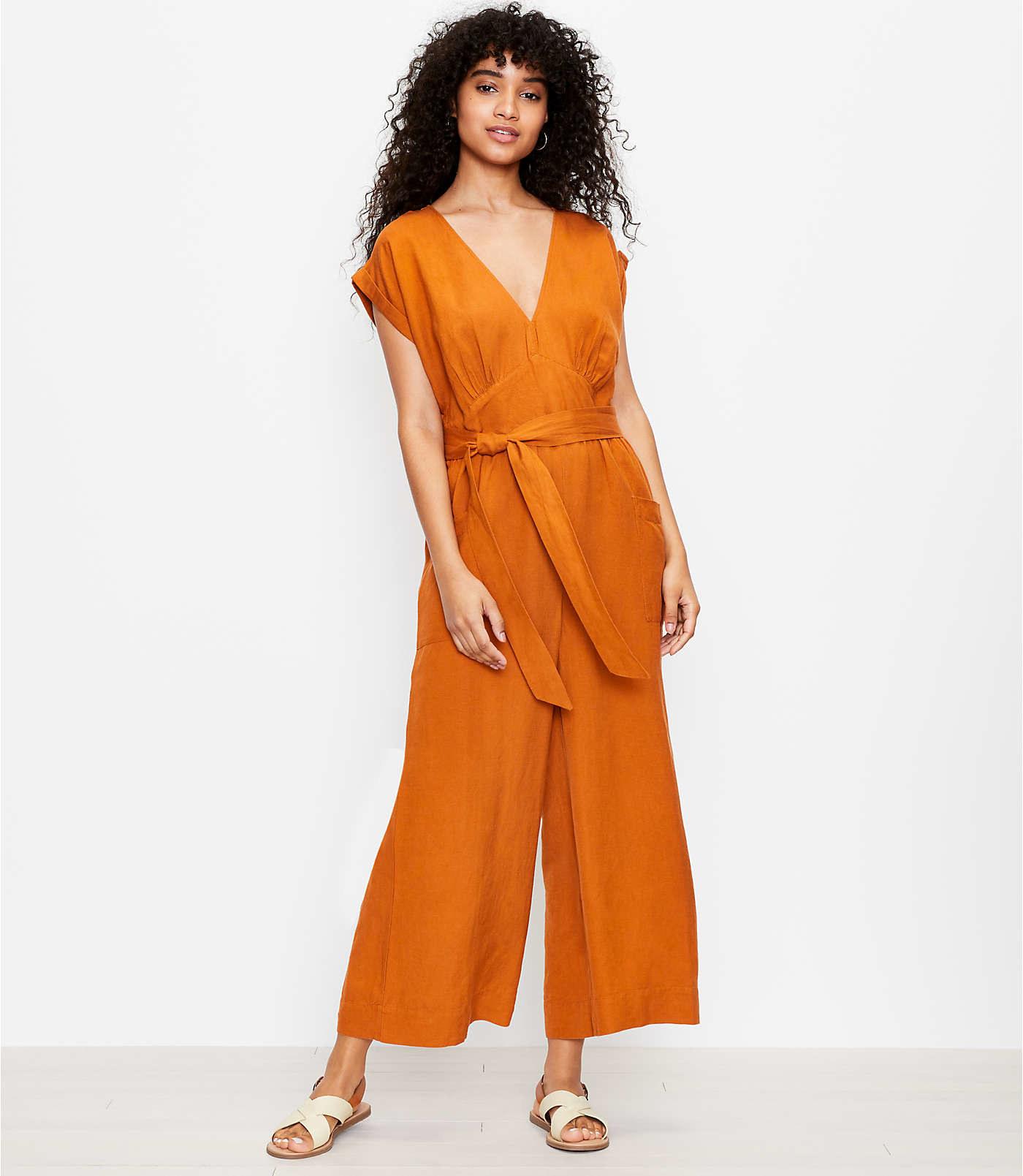 Model wearing jumsuit