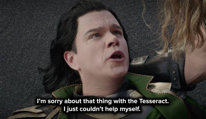Matt offers a dramatic apology for Loki's actions as he dies in Thor's arms
