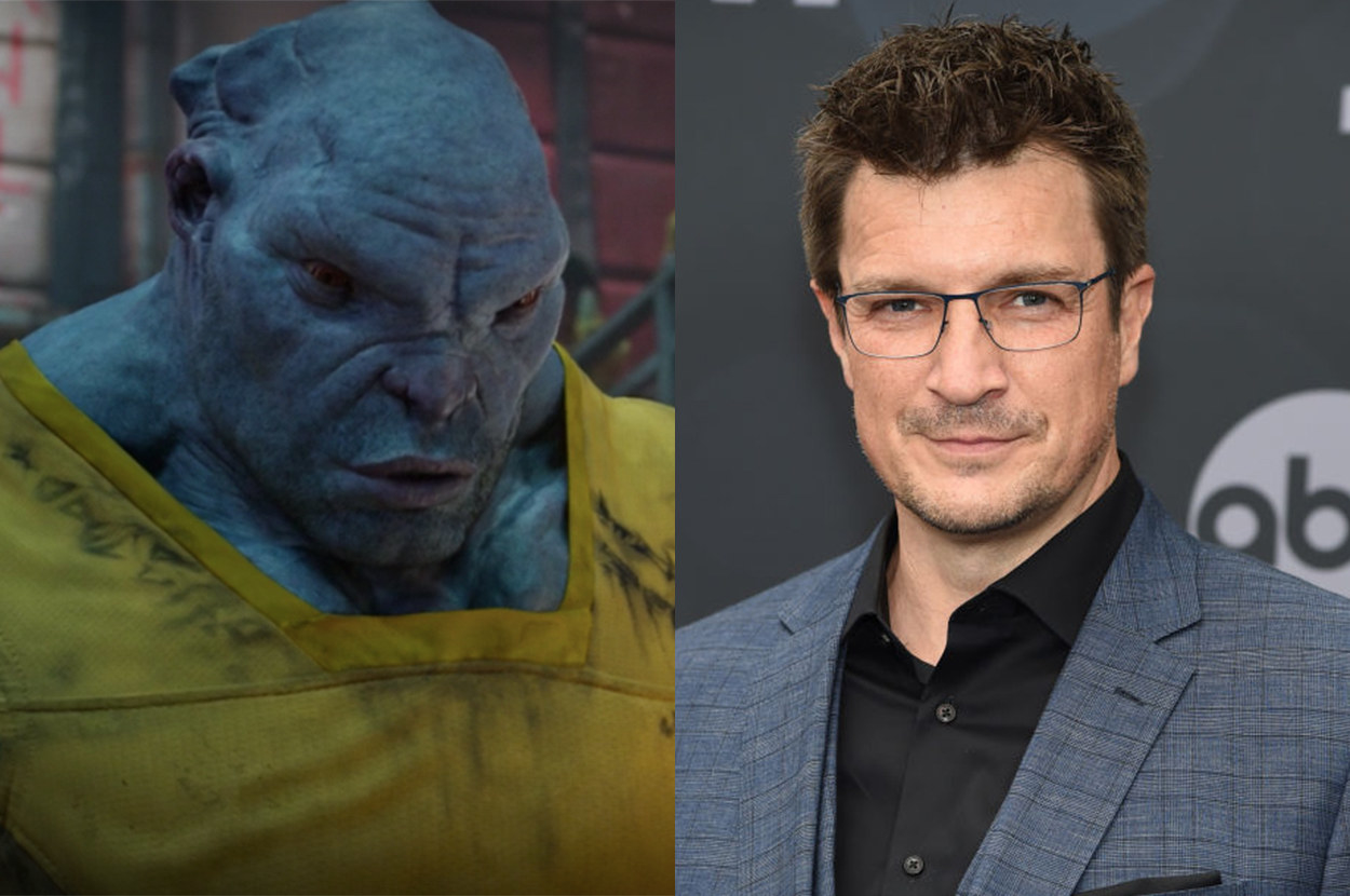 the actor who starred in Castle is the voice of a big alien prisoner