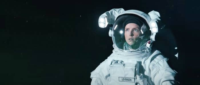 Woman out in space
