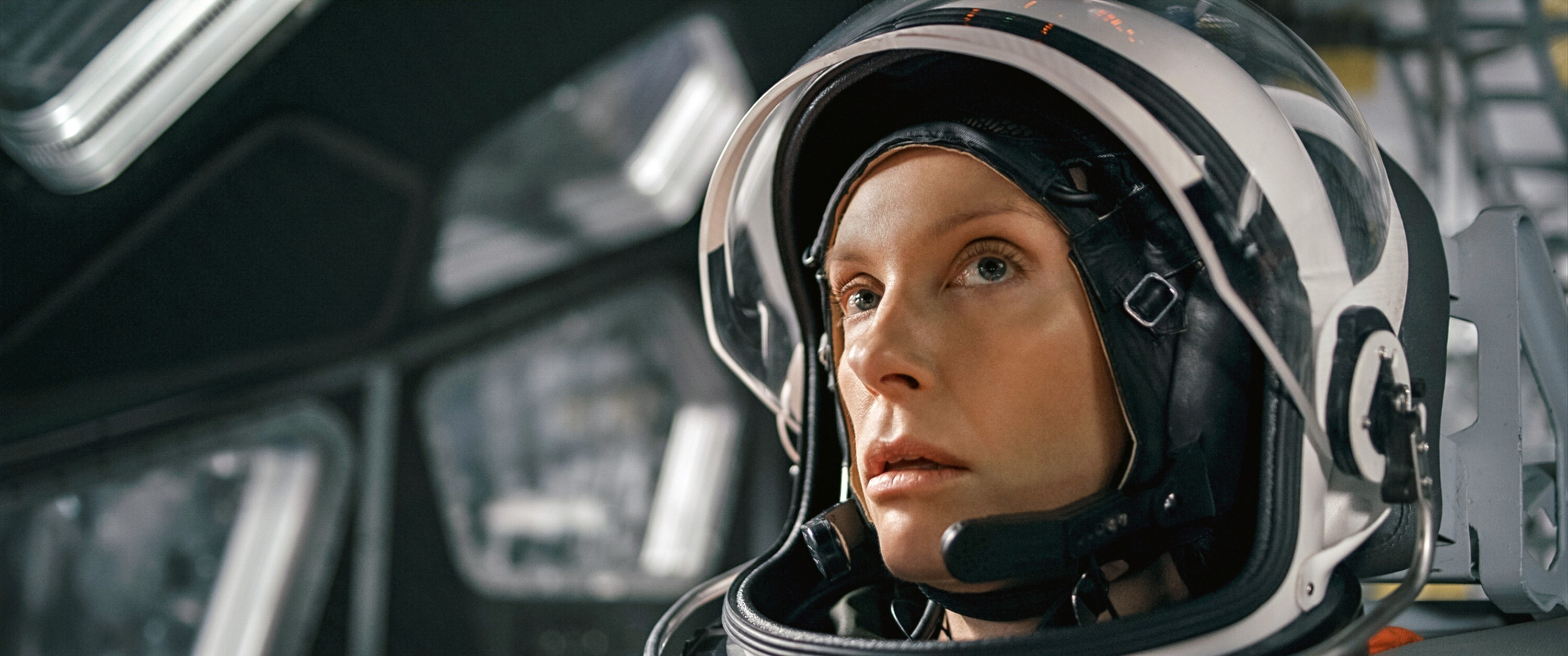 Toni Collette in a spacesuit on board the spaceship
