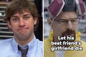 """《办公室》中的吉姆和《绝命毒师》中的沃尔特·怀特,标题是""""让他最好朋友的女朋友去死吧"""""""