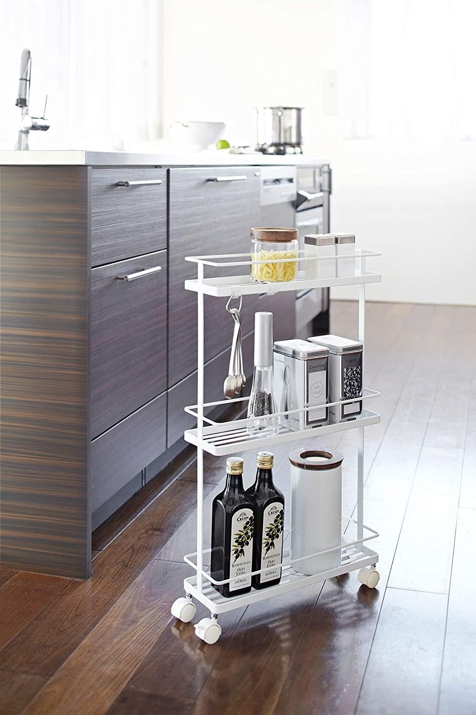 three tier rolling shelf