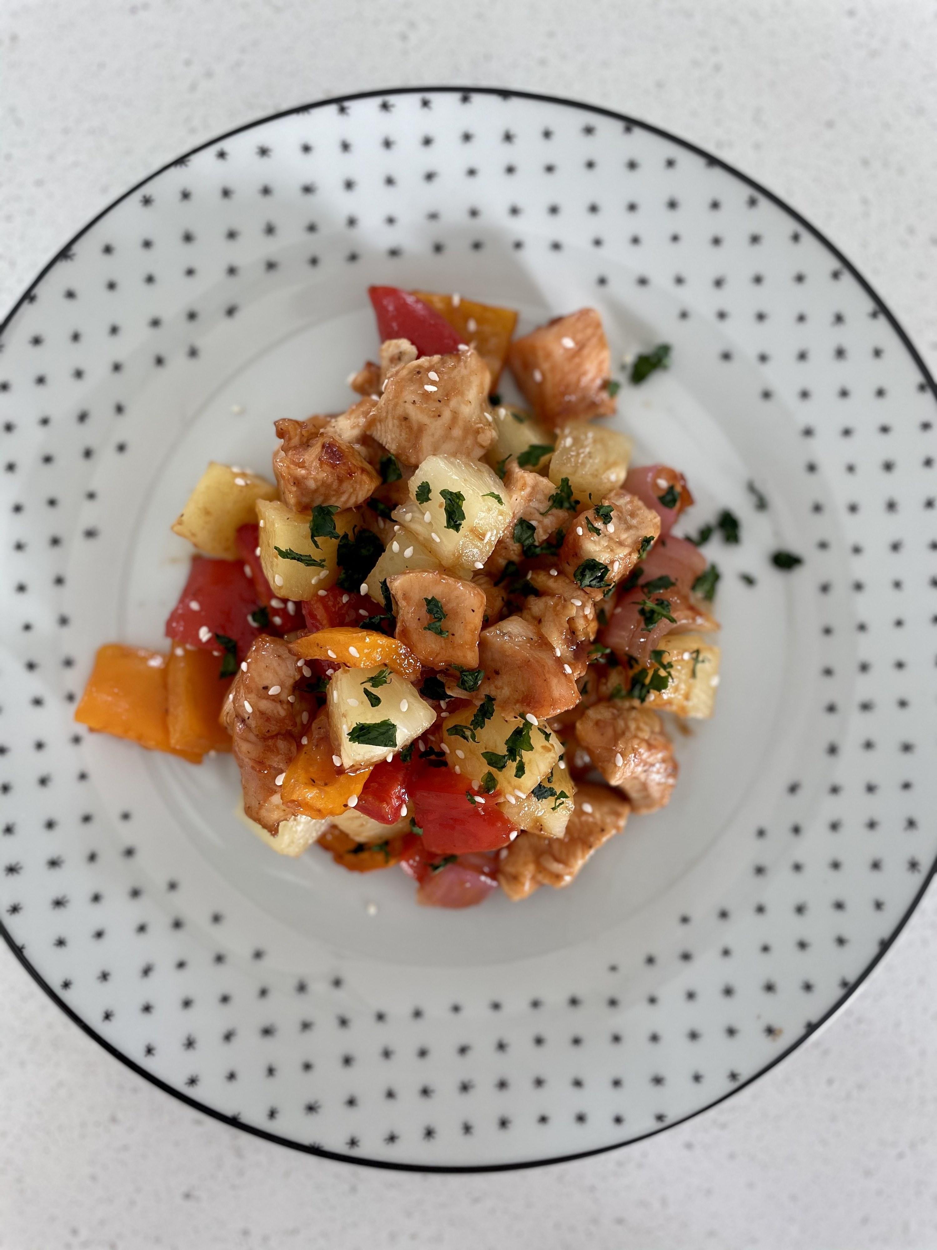 Hawaiian Chicken plated
