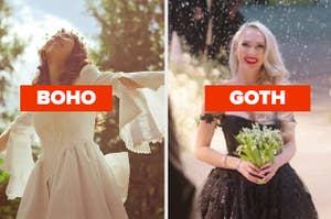 boho or goth wedding