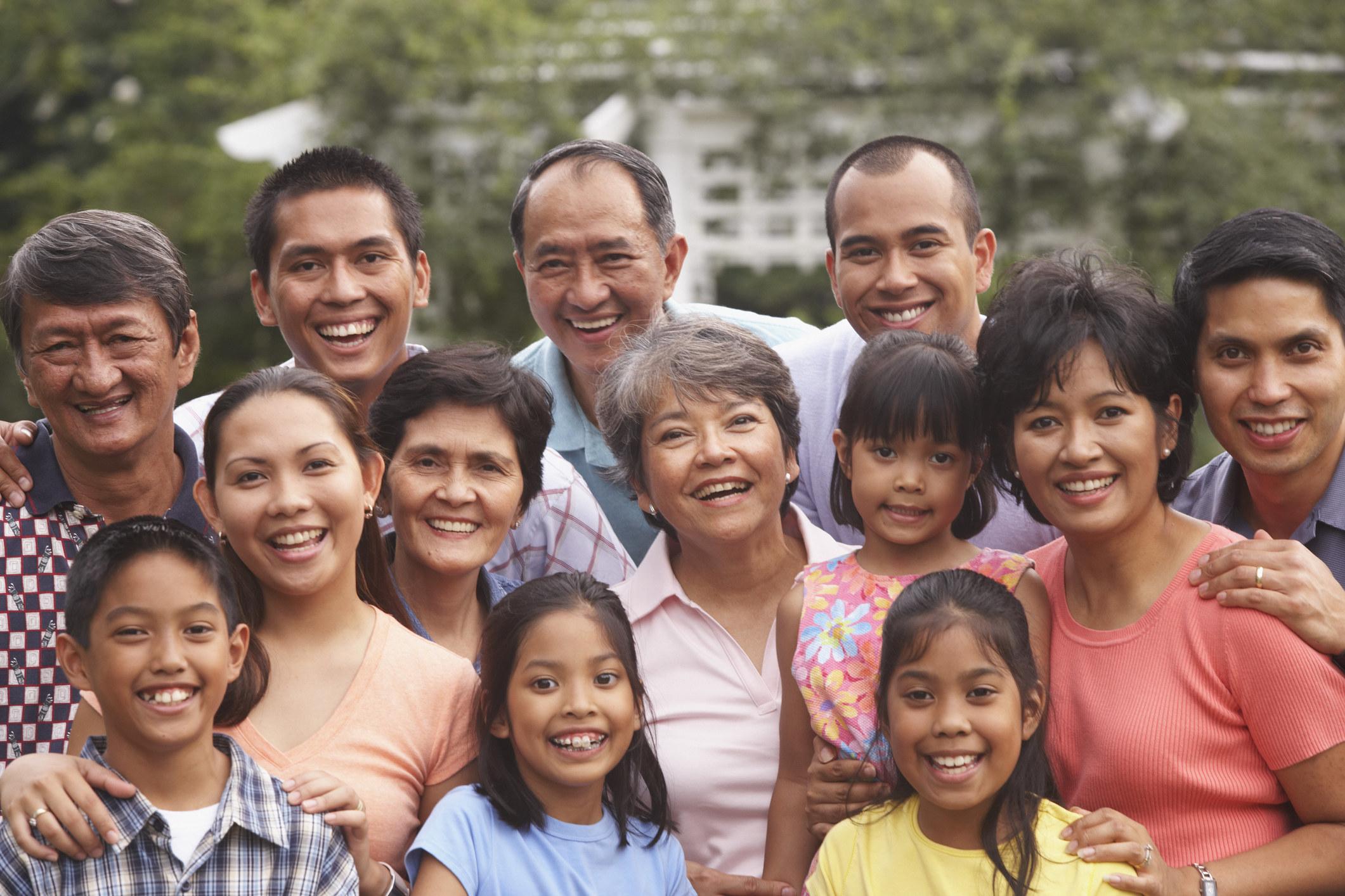 Filipino family photo