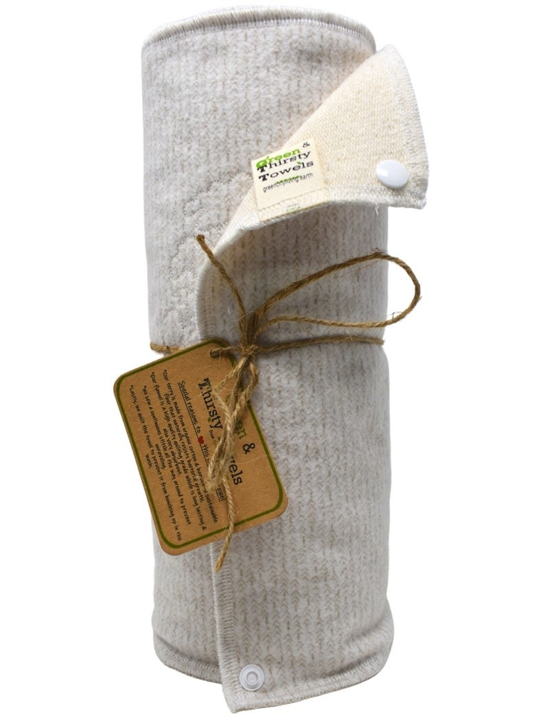 roll of white fabric towels
