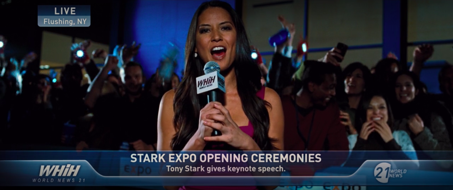 She reported live from the Stark Expo