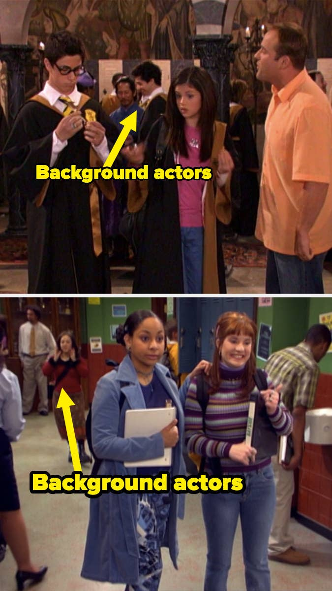 """Background actors in """"Wizards of Waverly Place"""" and """"That's So Raven"""""""