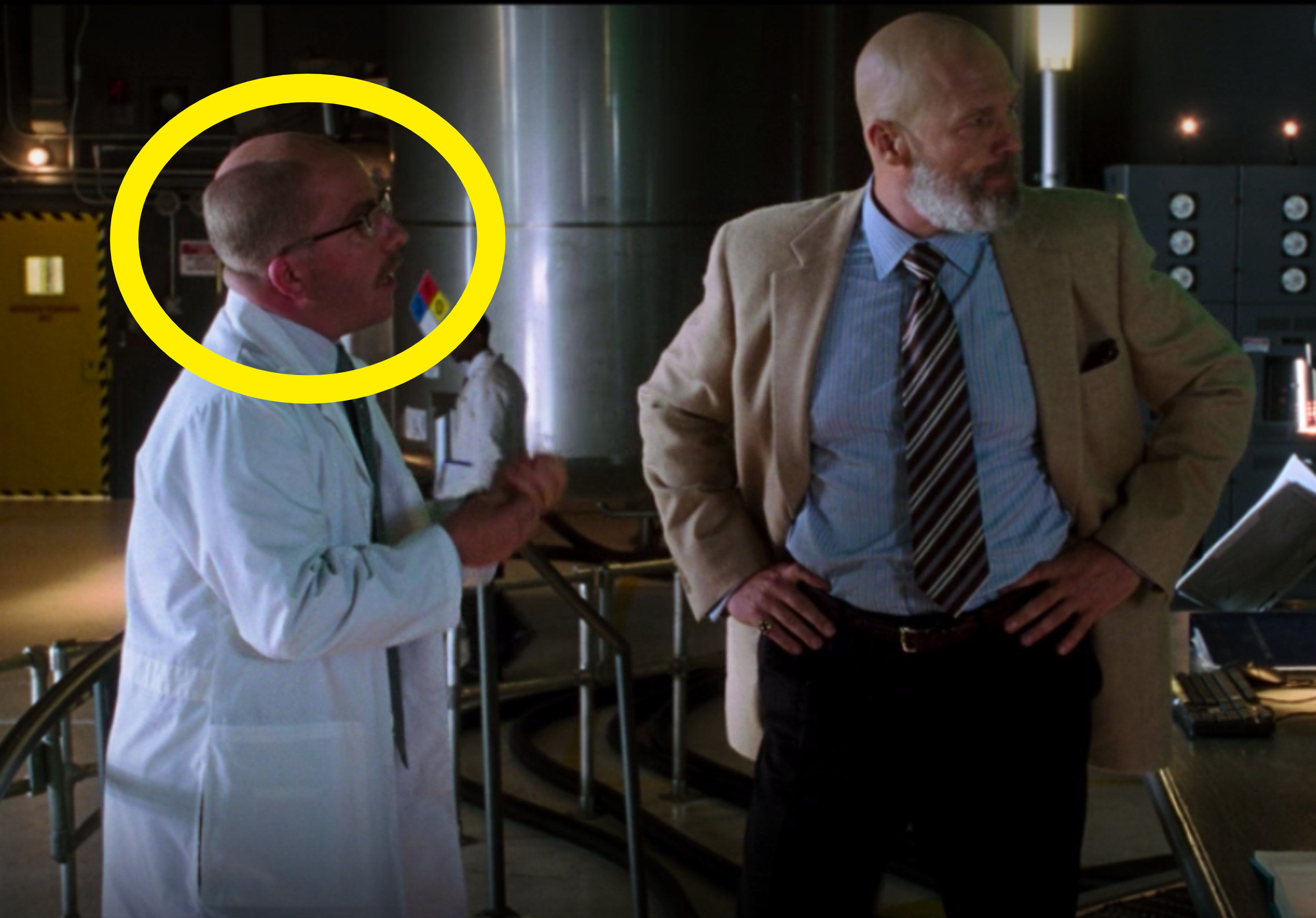 he played a scientist who worked for Stark Industries