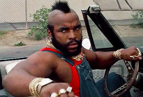 Mr. T in a car