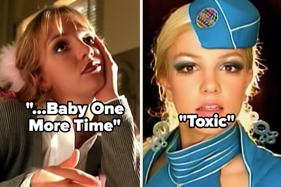 Britney Spears in her videos for
