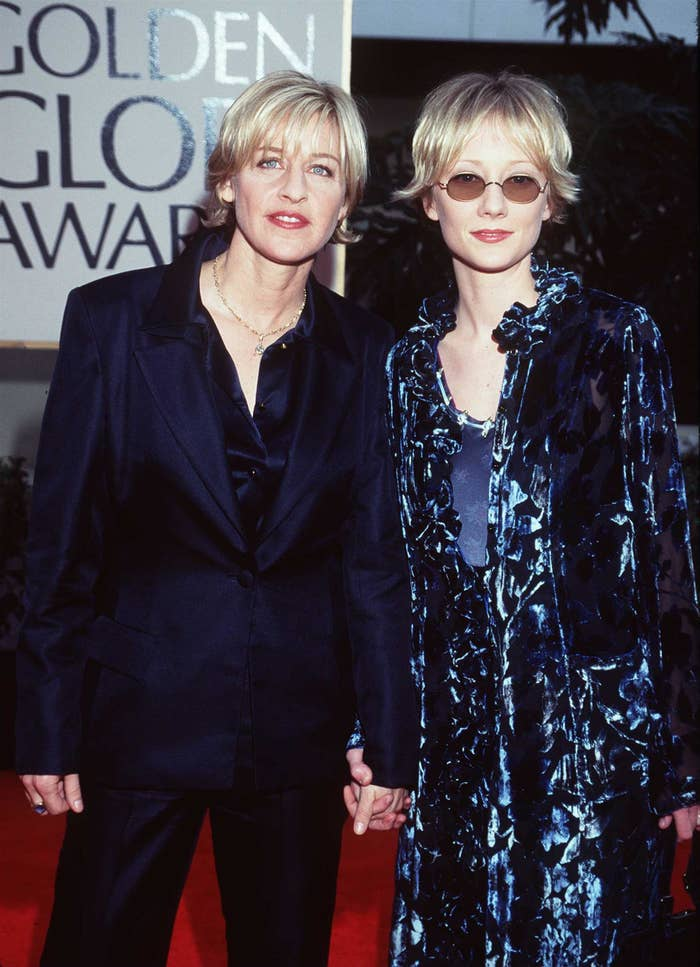 Heche and DeGeneres at the 1998 Golden Globes