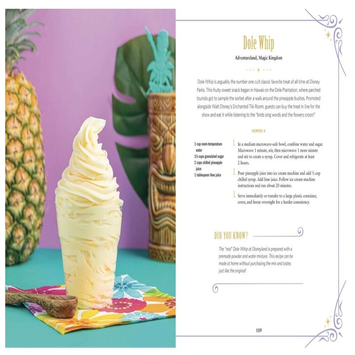 the dole whip page from the cookbook