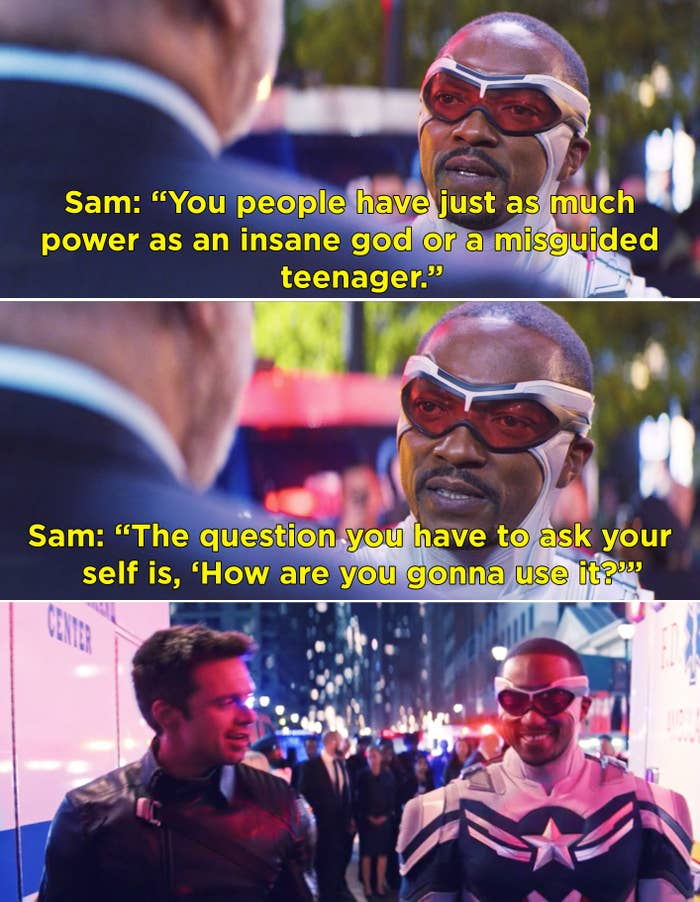 Sam asking how the senators are going to use their power