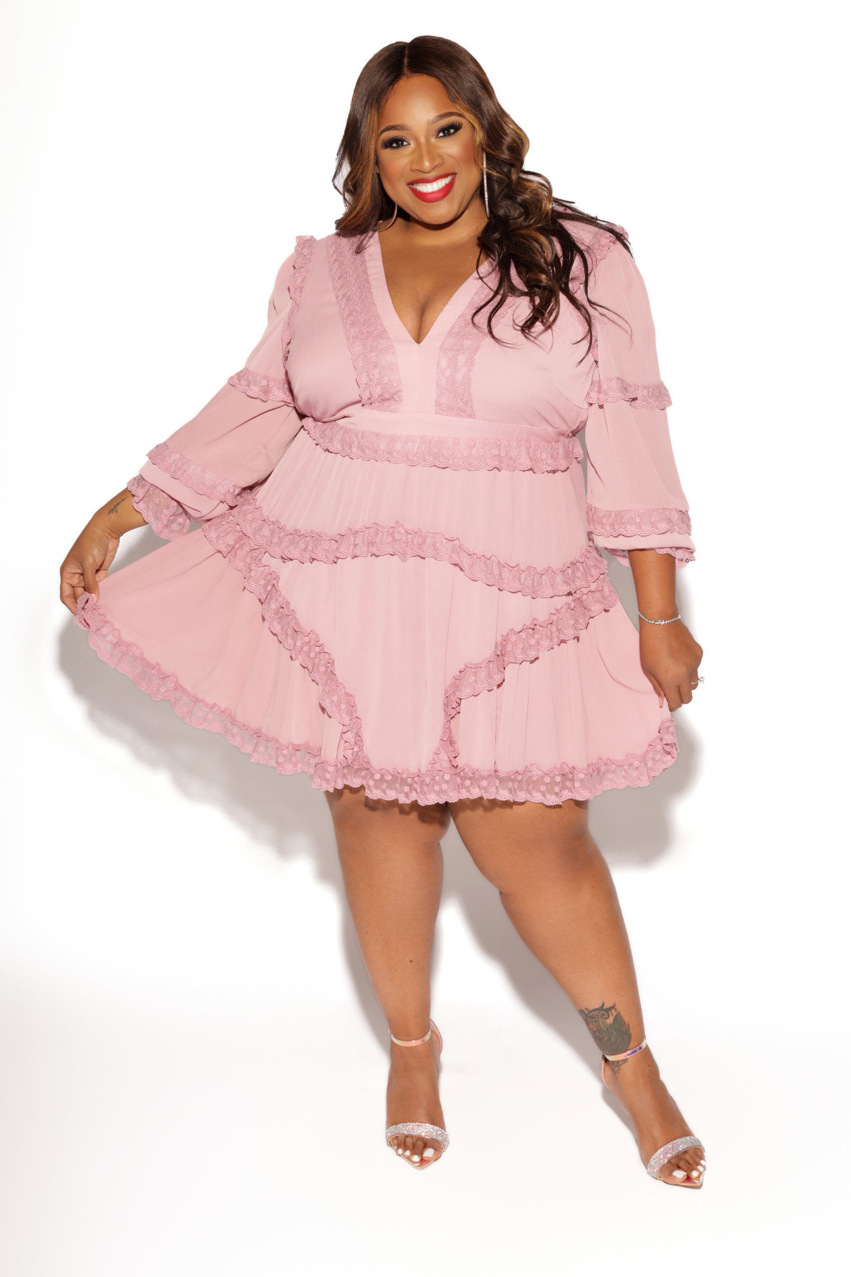 mini dress with quarter sleeves