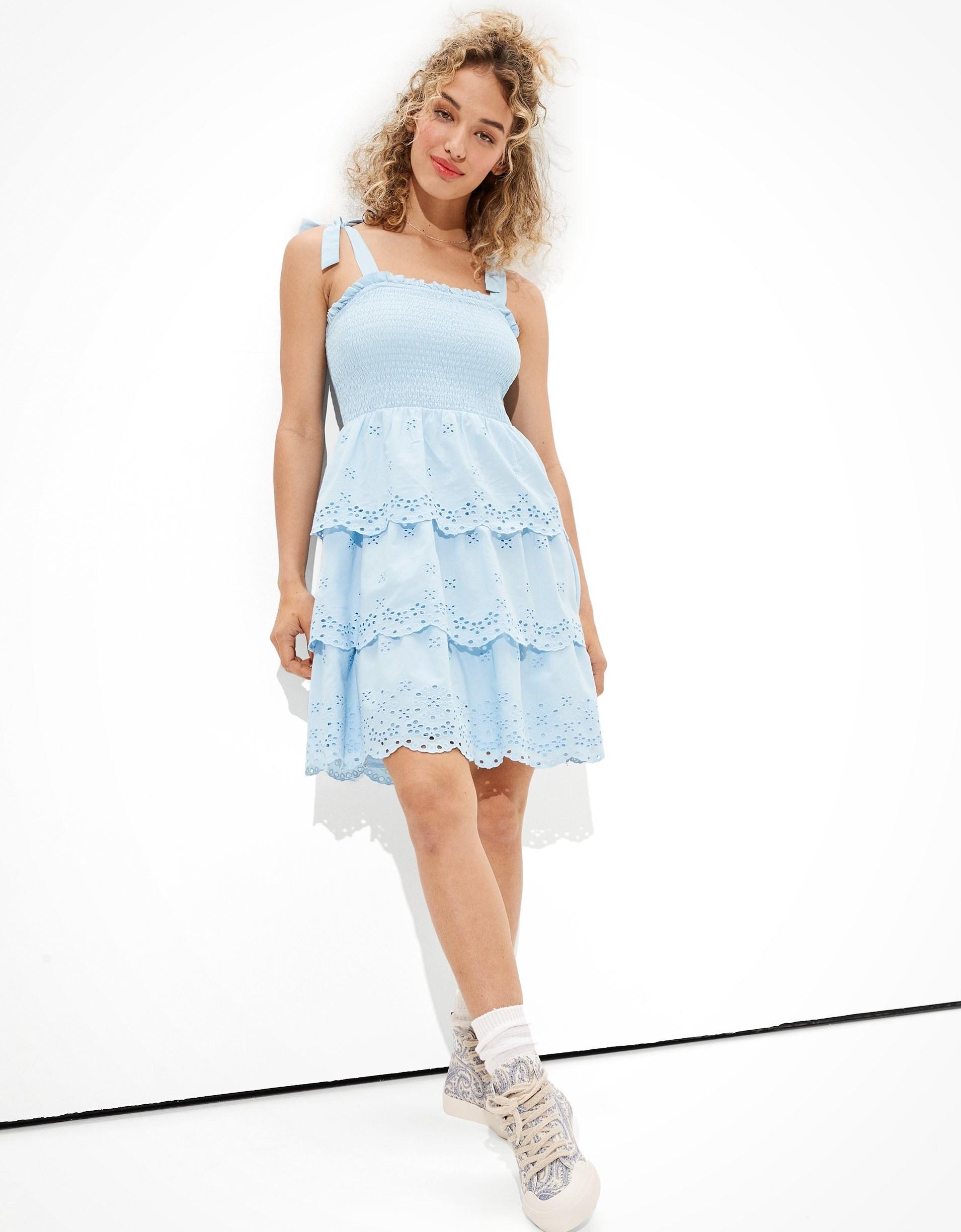 tank dress with three tier skirt