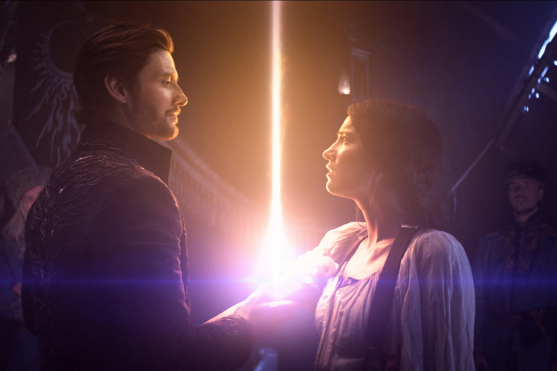 Ben Barnes and Jessie Mei Li as The Darkling and Alina Starkov