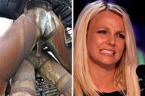pipes that look like people having intercourse and Britney Spears cringing