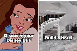 Discover your disney BFF and build a hotel