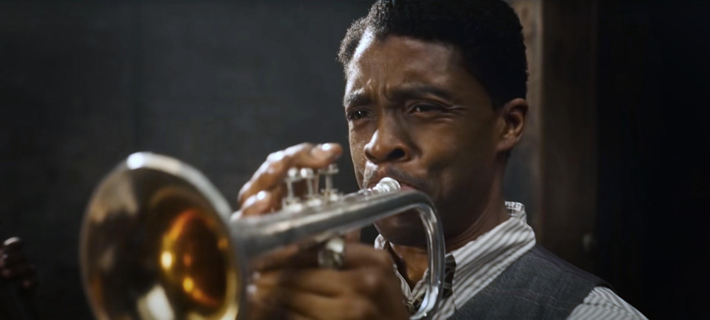 Boseman plays the trumpet in Ma Rainey's Black Bottom