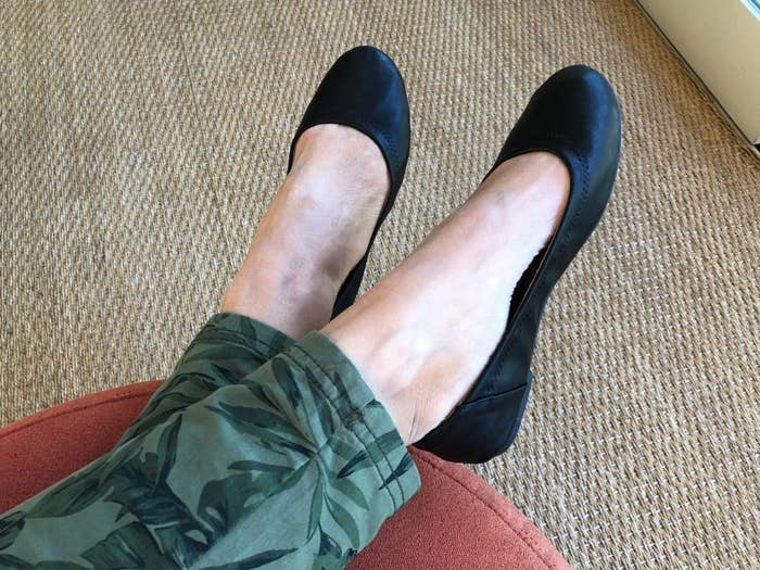 Review photo of the black ballet flats