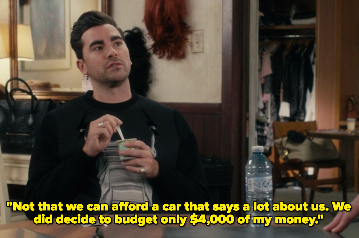 David saying they budgeted $4,000 for a car
