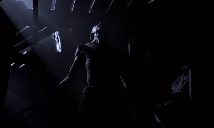 A Wendigo in a shadowy mine shaft