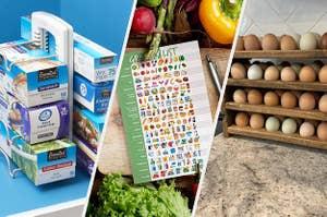 bag organizer a visual grocery list an egg rack