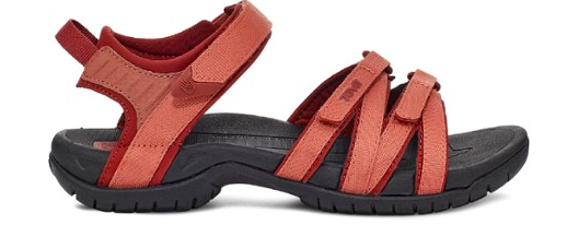 the sandal in red