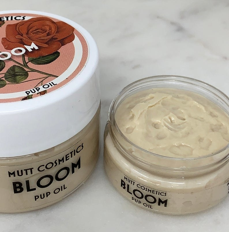 Jar of MuttCosmetics Bloom Pup Oil