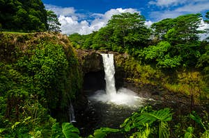 A waterfall in Hawaii