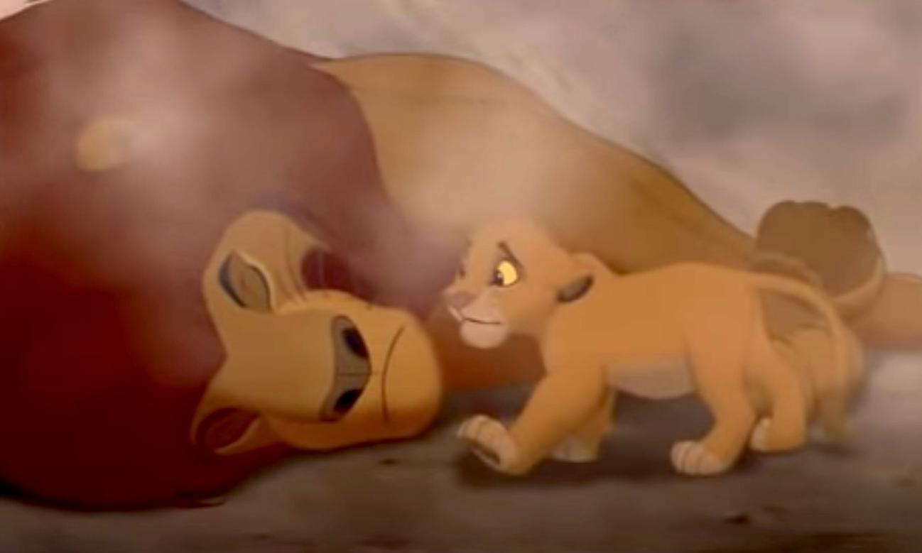 Simba finding Mufasa dead