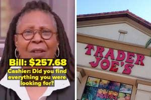 Whoopi Goldberg reaction and a Trader Joe's store