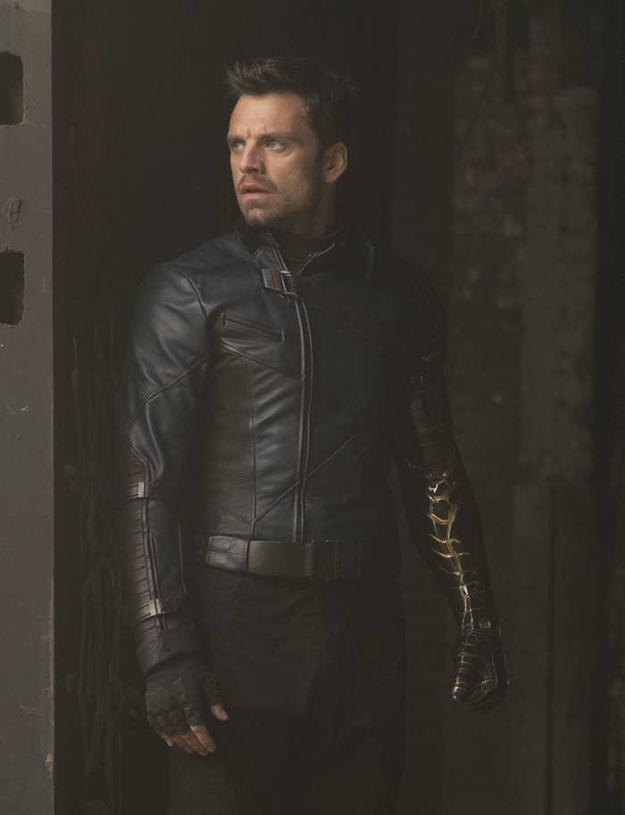 Sebastian in his Winter Soldier costume