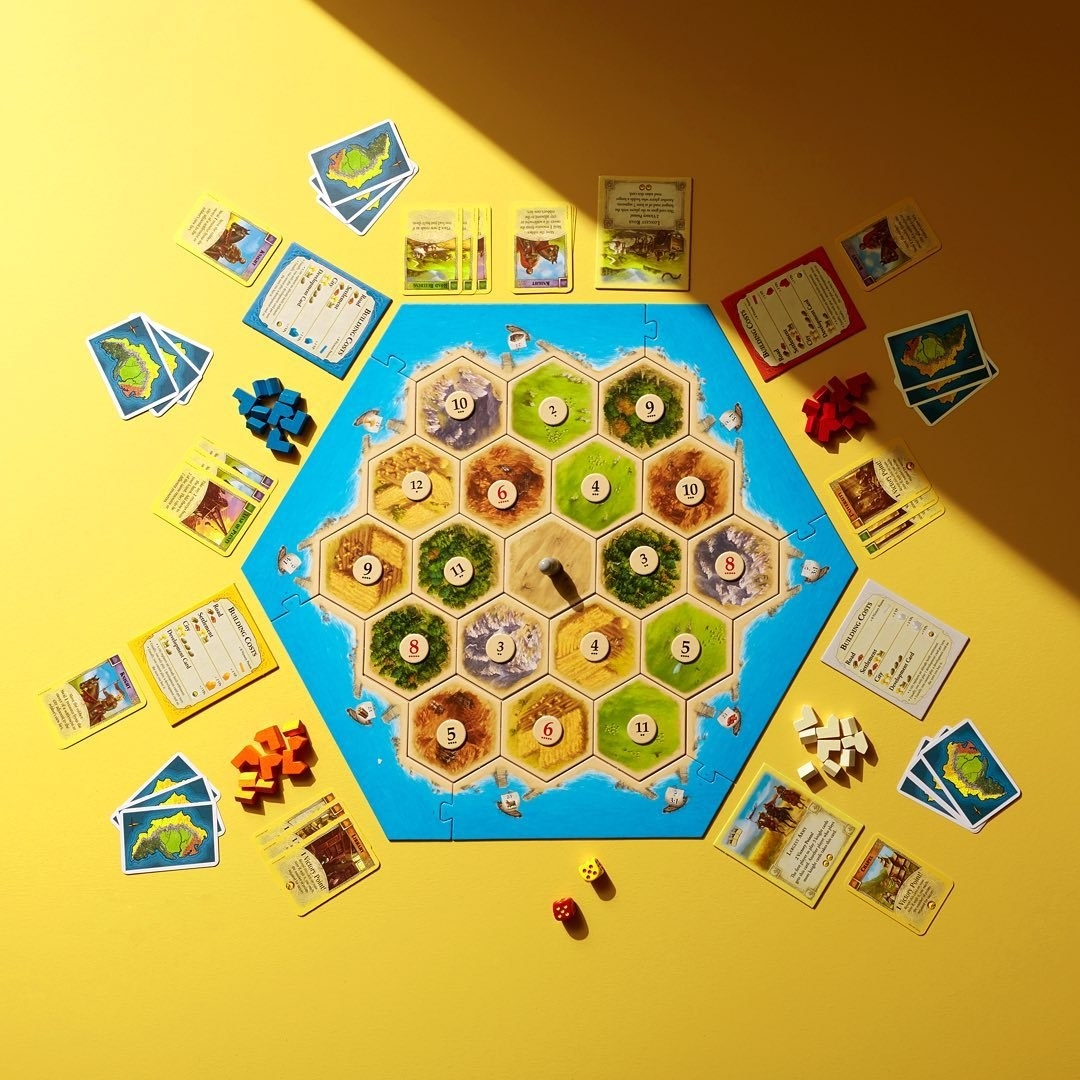 The game and all its pieces laid out
